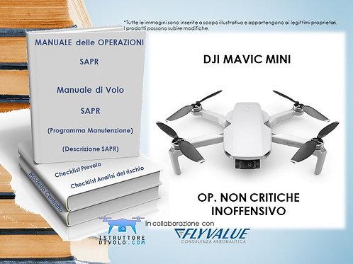 """""""SMART10"""" CONSULENZA OPERATORE NON CRITICO E APR """"DJI MAVIC MINI"""" INOFFENSIVO"""