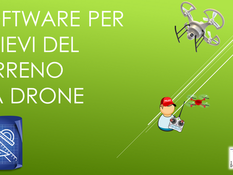 SOFTWARE PER RILIEVI DEL TERRENO DA DRONE