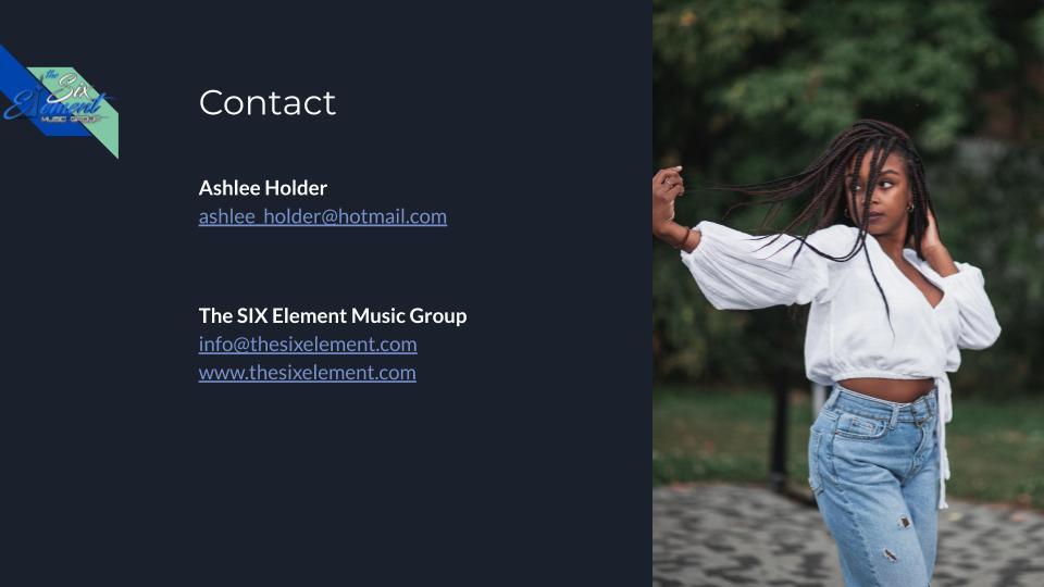 The SIX Element Group Portfolio of Ashle