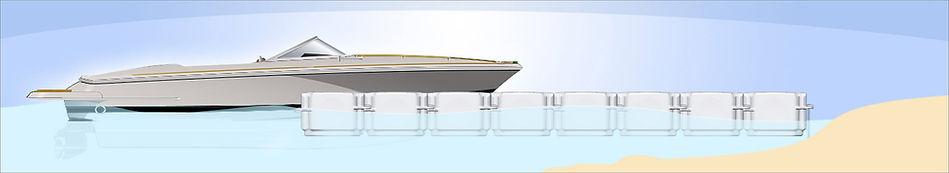 drive on floating dock system. T-docks pontoons
