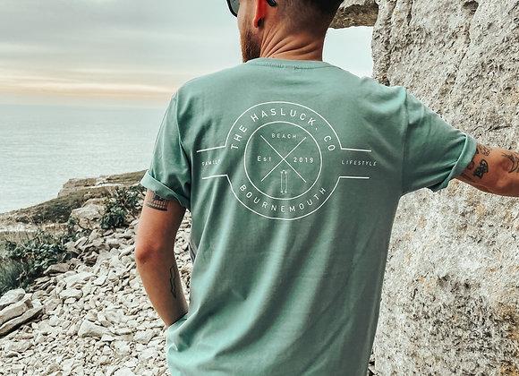 B'MOUTH logo T-shirt = SEA GREEN