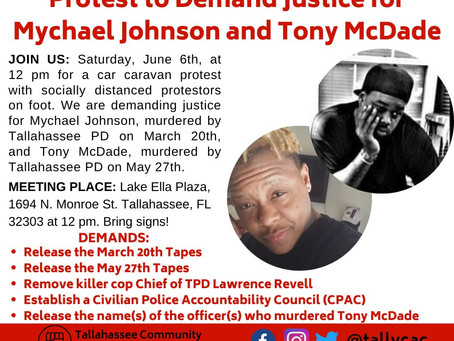 Protest to Demand Justice for Mychael Johnson and Tony McDade