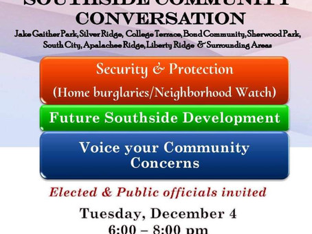 Community Conversation with Bill Proctor Tuesday December 4th, 2018 6pm-8pm