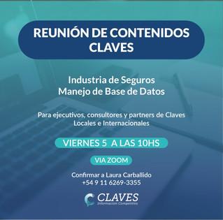 Reunión de Partners de Claves de junio 2020