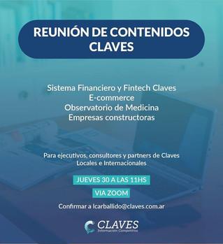 Reunión de Partners de Claves abril 2020