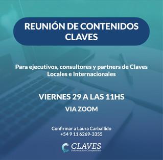Reunión de Partners de Claves mayo 2020 (II)
