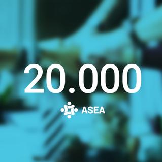 ASEA, alcanzamos los 20 mil socios!