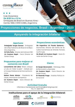 Proyecciones de negocios Brasil Argentina 2020