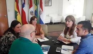Reunión con la flamante Secretaria Serrano