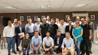 Reunidos con el representante del Plan Belgrano