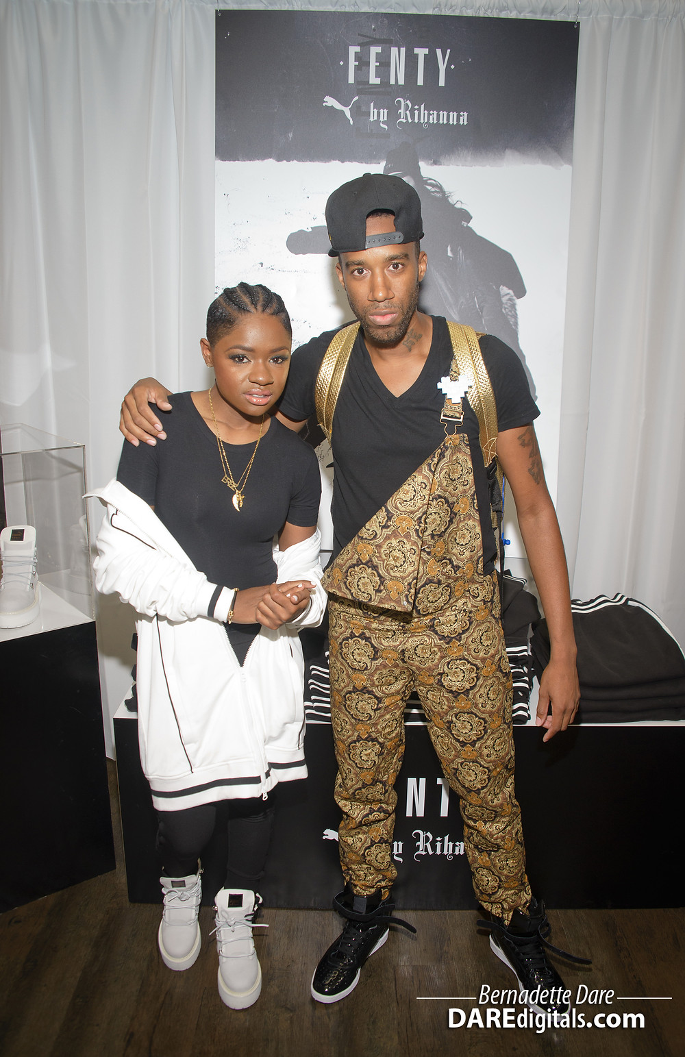 Bre-Z (Empire) with Desmond Handon a Rihanna's Fenty debut
