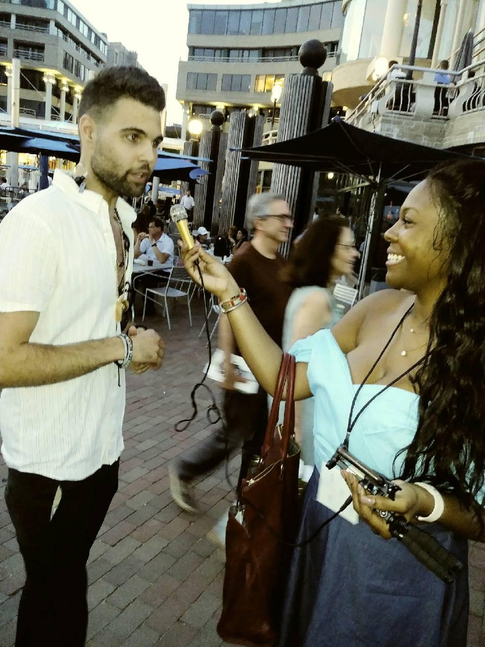 (L) Georgetown Fashion Show organizer, Jamaal Ashour & (R) NURA Magazine Journalist, Kayla Allen