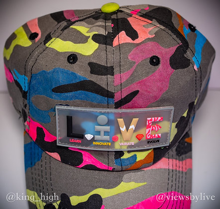 """""""neon abstract"""" dad hat"""