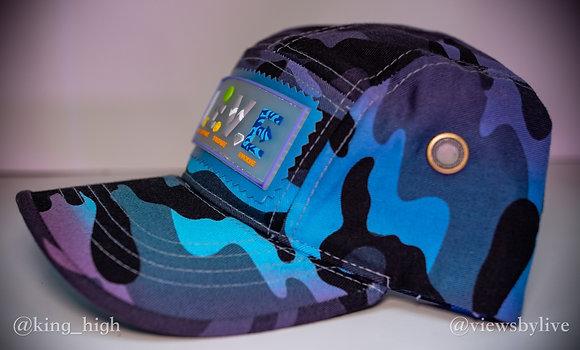 """aqua on aqua"" camo 5 panel hat"
