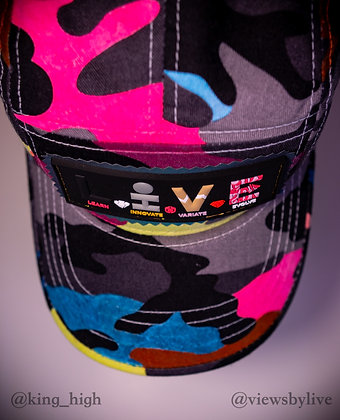 """neon abstract"" 5 panel hat"