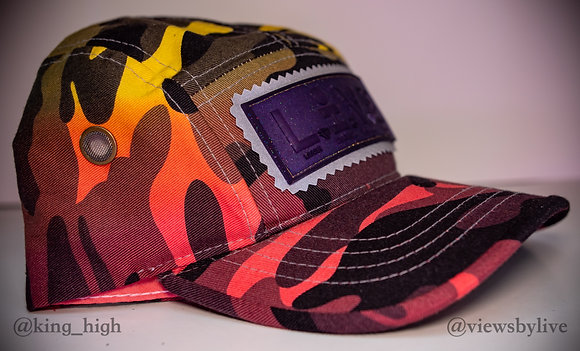 """""""purp flame"""" 5 panel hat"""