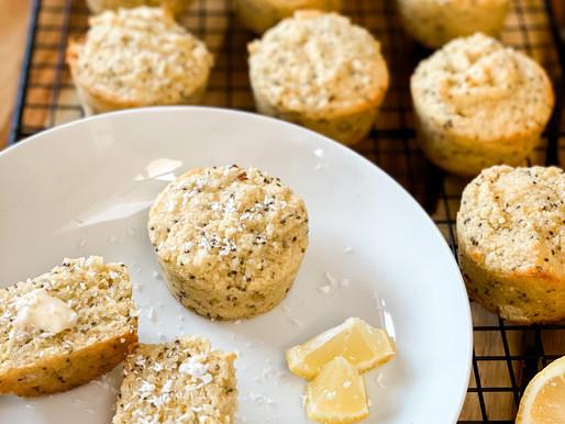 Lemon Coconut Chia Seed Muffins