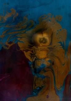 Cosmic dust flume