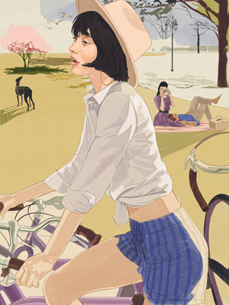 woman on bikecol.jpg