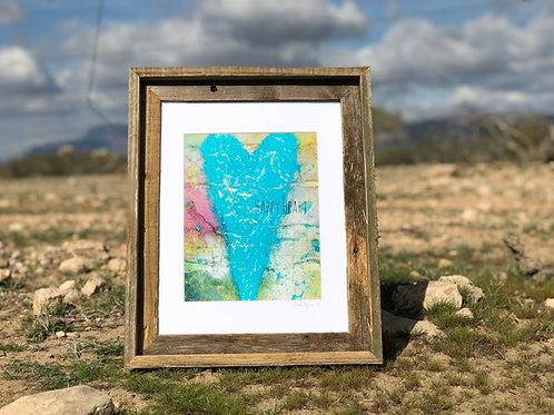 """Happy Heart"" - 8x10 matted art print of JL Original"