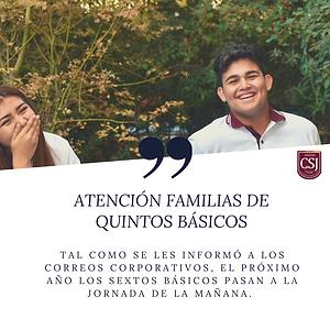 ATENCIÓN FAMILIAS DE QUINTOS BÁSICOS.p