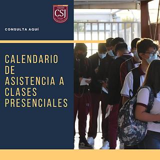 CALENDARIO DE ASISTENCIA A CLASES PRESEN