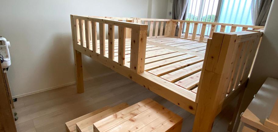 桧産キングサイズベッド