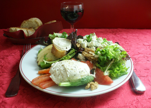 Salade trois fromages