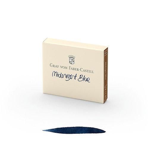 Cartuchos de Tinta Azul Media Noche x 6