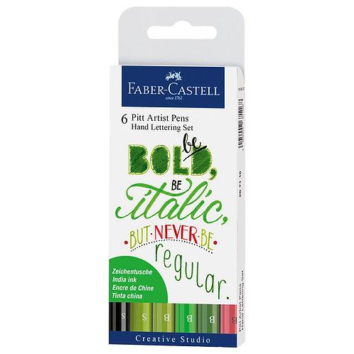Marcadores Pitt Pen Lettering x 6 verdes