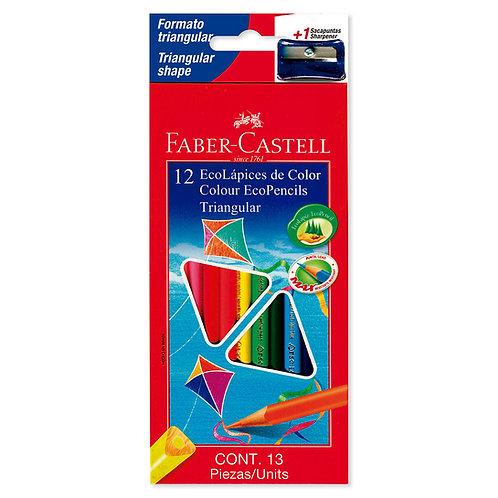 Colores triangulares x12 ecólogicos