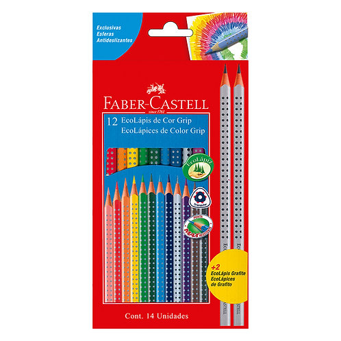 Colores Grip x 12 + 2 lápices Ecológicos