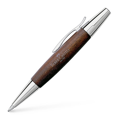 Bolígrafo E-motion peral chromo-café oscuro