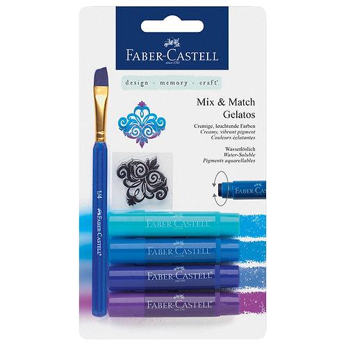 Gelatos x 4 azules + pincel + sel