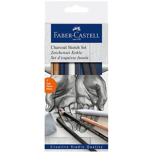 Juego de Lápices Carboncillo + acce
