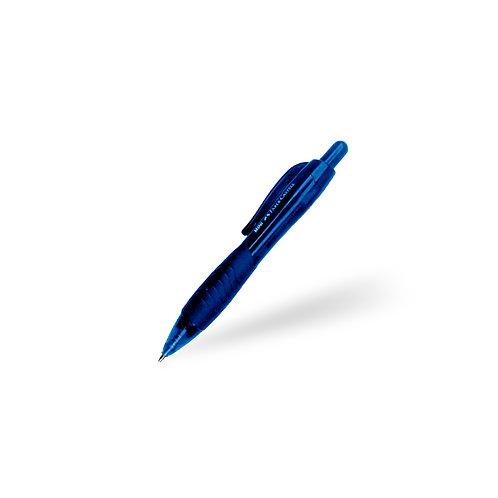 Bolígrafo mini retráctil azul oscuro