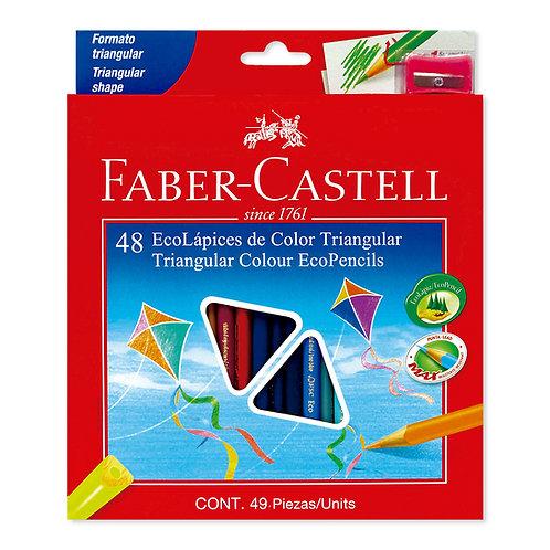 Colores Triangulares x 48 Ecólogicos