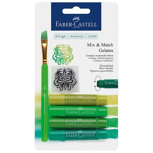 Gelato x 4 verde + pincel + sel