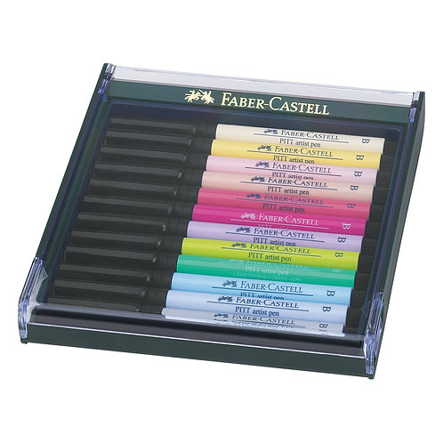 Marcadores Pitt Pen x 12 pastel