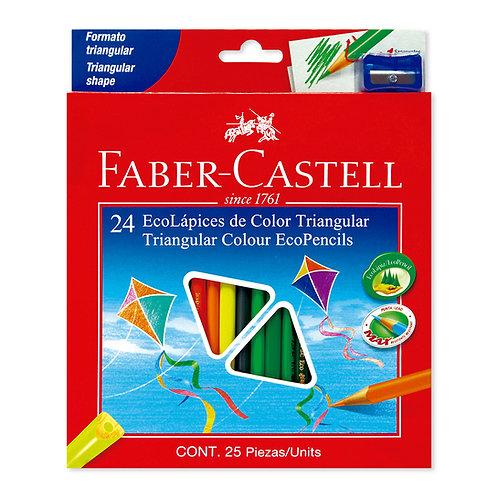 Colores Triangulares x 24 Ecólogicos