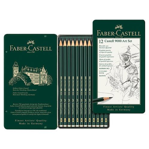 Lápices Castell 9000 x 12 (Blandos)