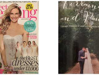 Lorraine's wedding in Perfect Weddings Magazine