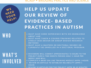 FPG's National Clearinghouse on Autism Evidence and Practice Recruits Expert Reviewers