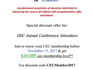 Membership Discount for the DEC 2017 Conference