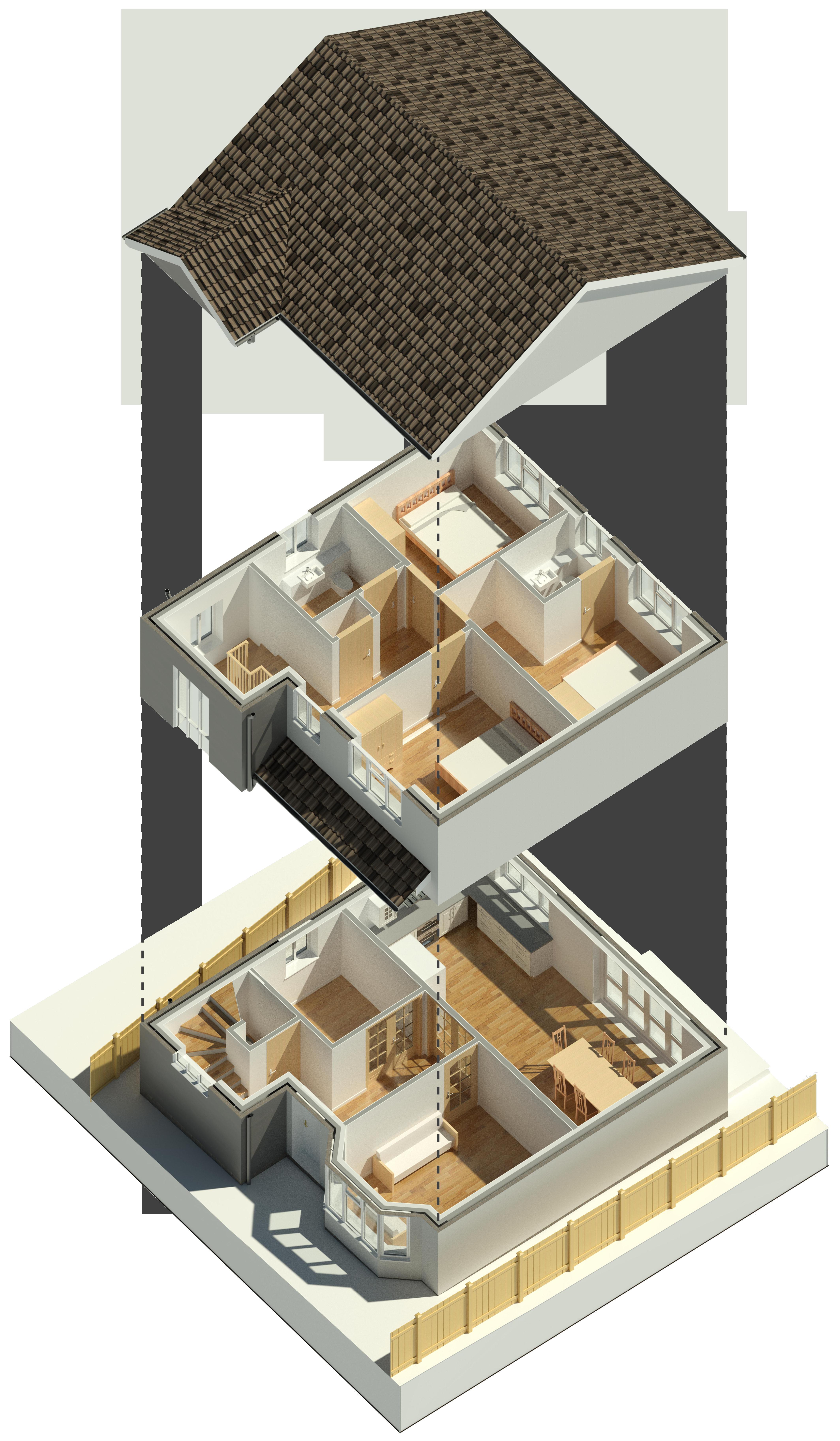 3D Floor Plates