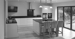 Kitchen with bifold doors