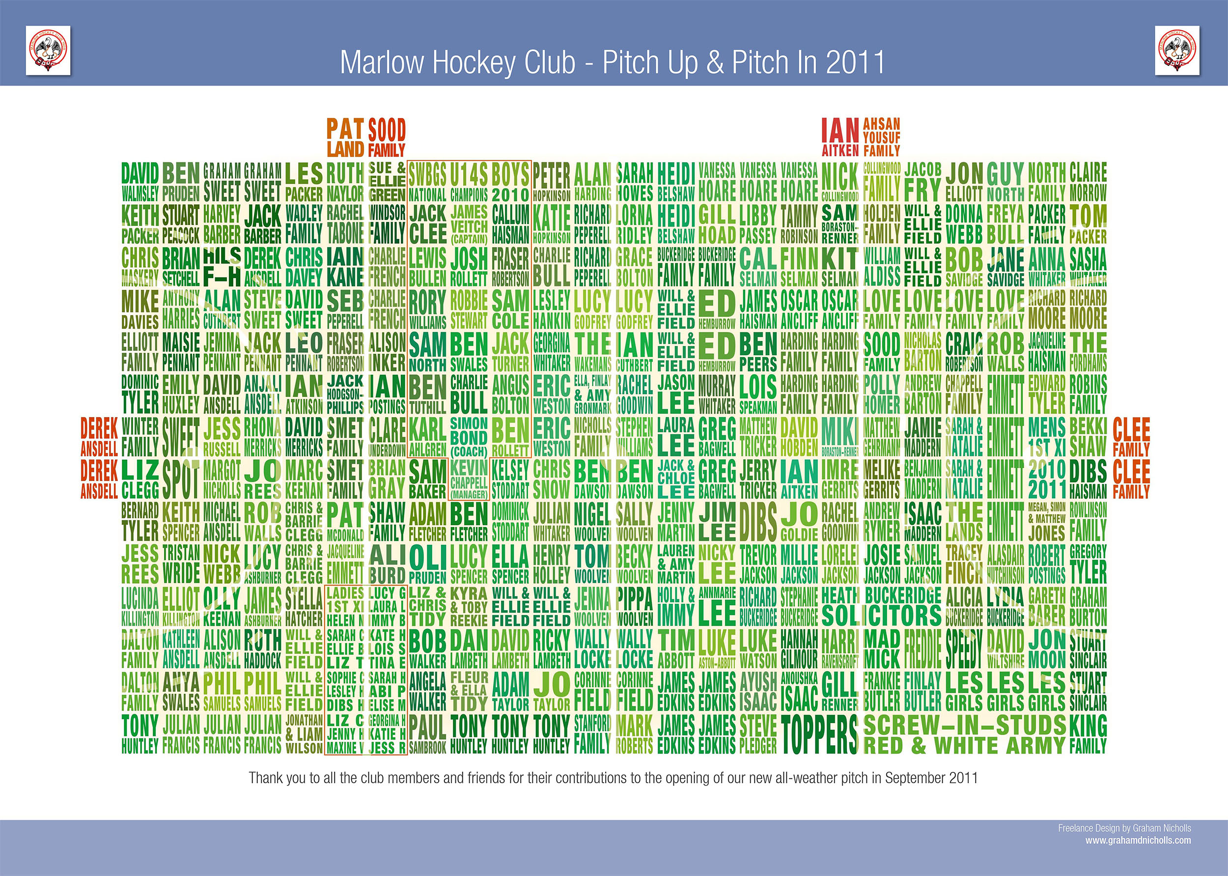Marlow Hockey Club Poster