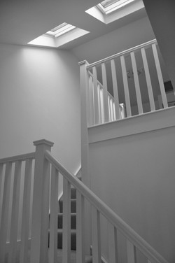 Open and airy stairway added