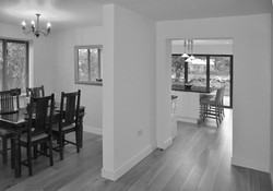 Dining room onto kitchen