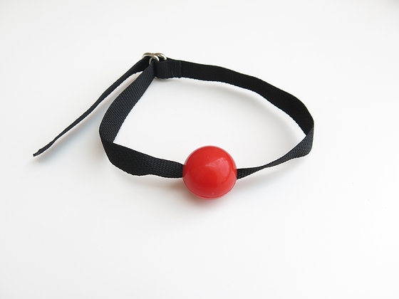 Ball Gag with Webbing in Red